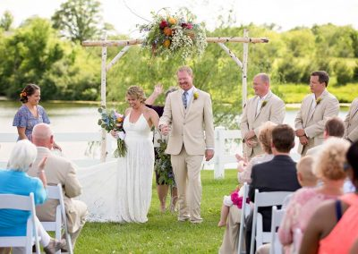 Outdoor wedding at Parker Run (Photo by Amanda Oakes Photography)